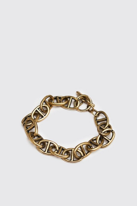 Gold Anchor Chain Bracelet