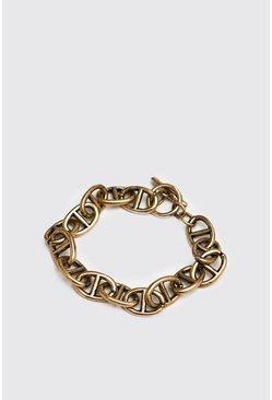 Anchor Chain Bracelet, Gold, Uomo