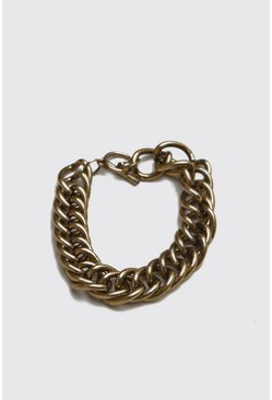 Mens Gold Heavy Chain Bracelet
