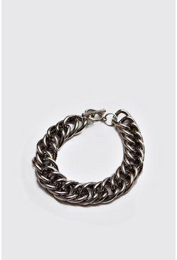 Mens Silver Heavy Chain Bracelet