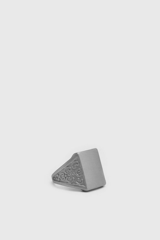 Silver Flat Surface Signet Ring
