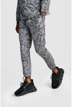 Grey Snake Paint Trouser