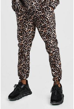 Brown Leopard Print Trouser