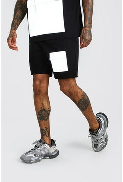 Black MAN Reflective Pocket Shorts