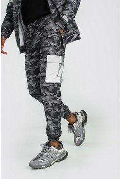 Charcoal MAN Reflective Camo Cargo Jogger With Reflective