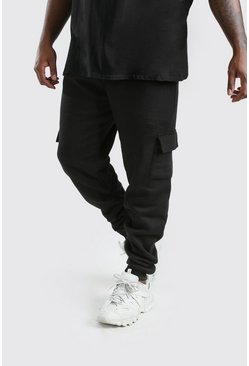 Black Big And Tall Slim Fit Cargo Jogger