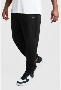 Black Big And Tall MAN Dash Ruched Slim Fit Jogger
