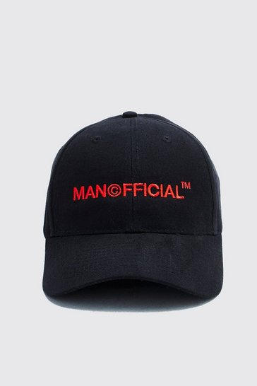 Black MAN Official Embroidered Cap