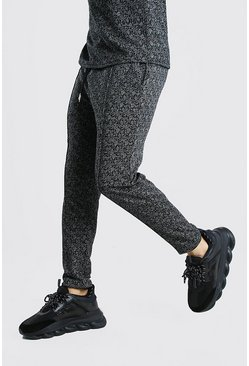 Black Pintuck Smart Jacquard Jogger