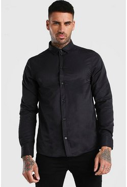 Black Long Sleeve Fine Texture Classic Formal Shirt