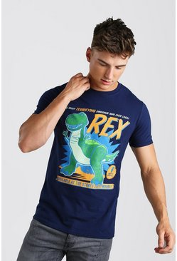 T-shirt Toy Story Rex officiel, Bleu