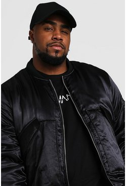 Black Big And Tall Smart Padded MA1 Bomber Jacket
