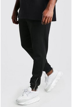 Black Big And Tall Scuba Pintuck Joggers