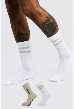 Lot de 2 paires de chaussettes « Edition » MAN officiel, Blanc cassé