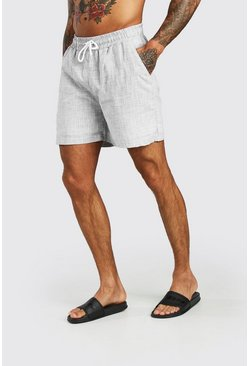 Grey Textured Shorts
