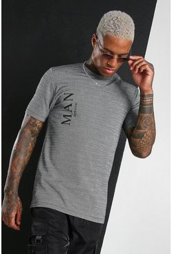 Grey MAN Roman Jacquard T-Shirt