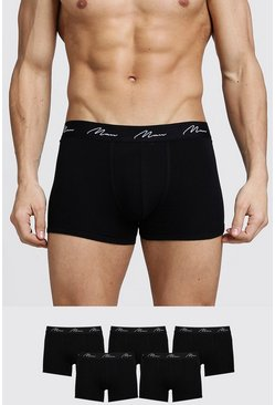Black 5 Pack MAN Script Trunk