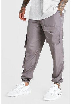Charcoal Nylon Multi Pocket Cargos