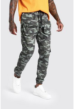 Khaki 3D Pocket Camo Cargo Trouser