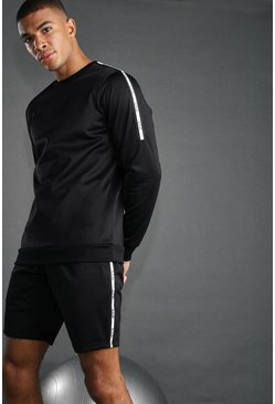 Shorts con detalle reflectante MAN Active, Negro