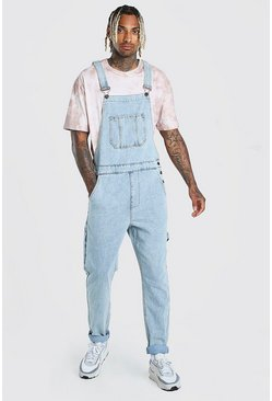 Ice blue Slim Denim Dungaree