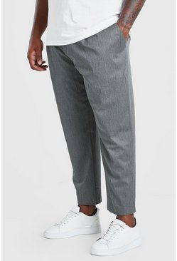 Pantalones capri ajustados Big And Tall, Gris marengo