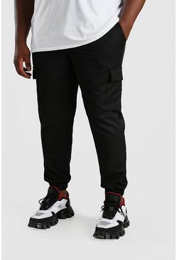 Black Big And Tall Skinny Cargo Trouser