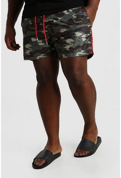 Big And Tall Camo Print Swim Short