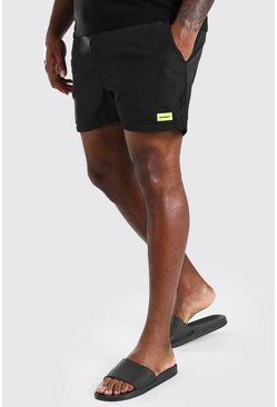 Black Big And Tall MAN Official Swim Short