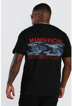 Camiseta de camuflaje MAN Official Big And Tall, Negro