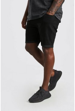 Shorts denim skinny básicos Big And Tall, Negro