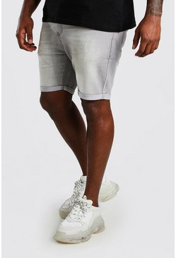Shorts denim skinny básicos Big And Tall, Gris