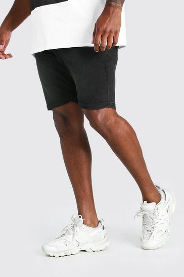 Charcoal Big And Tall Skinny Fit Denim Shorts