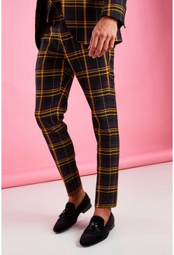 Black Skinny Bold Check Trousers