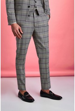 Stone Smart Skinny Dogtooth Check Trousers
