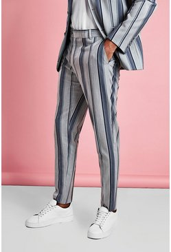 Light grey Smart Skinny Bold Stripe Pants