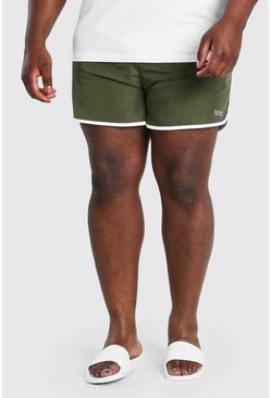 Khaki Big And Tall MAN Dash Runner Swim Short