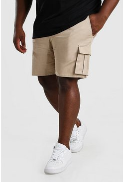 Stone Big And Tall Slim Fit Cargo Chino Short