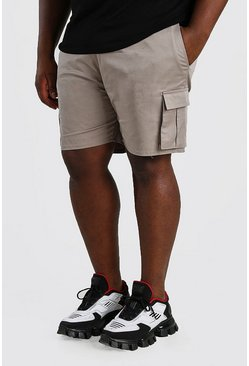 Sage Big And Tall Slim Fit Cargo Chino Short