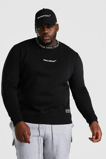 Black Big And Tall MAN Official Sweater