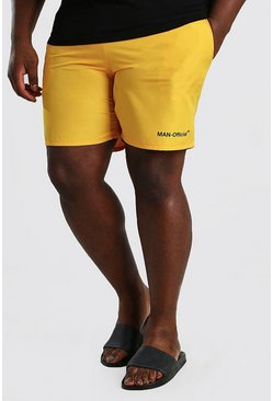 Yellow Big And Tall MAN Official Swim Short