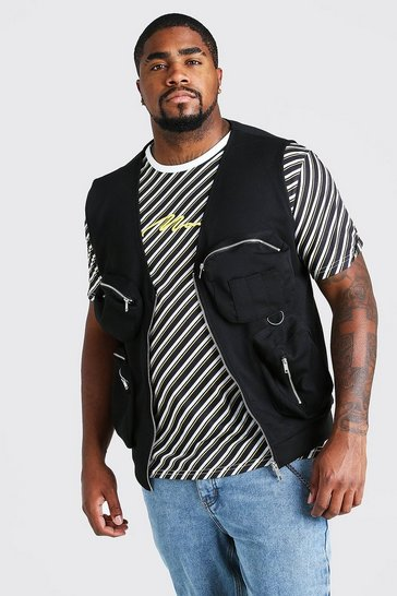 Black Big And Tall Scuba Utility Vest