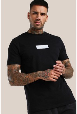 Black Original MAN 3D Embroidered Logo T-Shirt