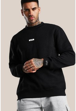 Black Original MAN Extended Neck Sweatshirt