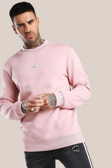 Pink Original MAN Extended Neck Sweatshirt