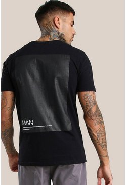 Black Original MAN Vinyl Back Print T-Shirt