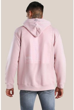 Pink Original MAN Loose Fit Hoodie With Back Vinyl Print