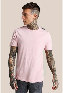 Pink Original MAN Embroidered T-Shirt With Woven Label