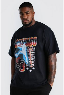 Black Big And Tall Chicago T-Shirt