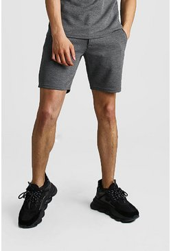 Grey Smart Waffle Textured Short
